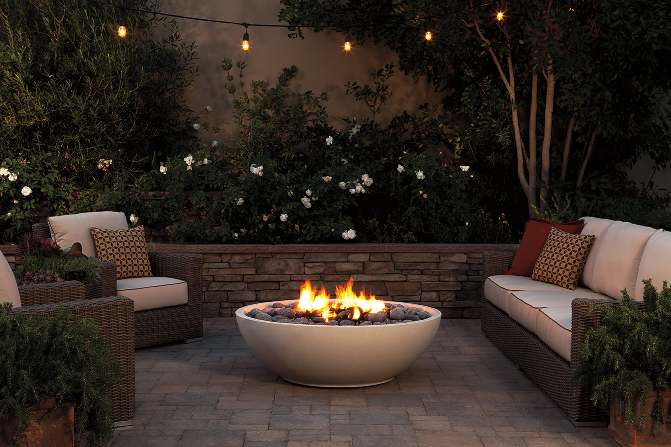 Fire bowls eagle stone for Outdoor fire bowl