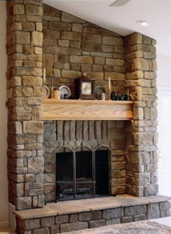 Cobble stonecraft eagle stone for Stonecraft fireplaces